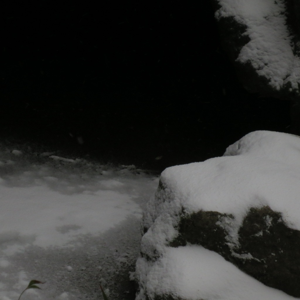 snow and cave
