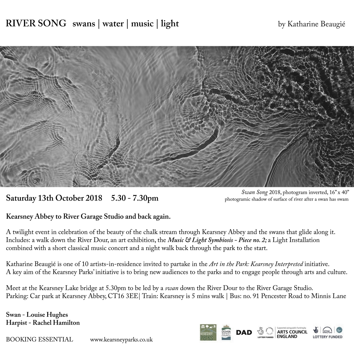 October - K Beaugié - River Song - flyer